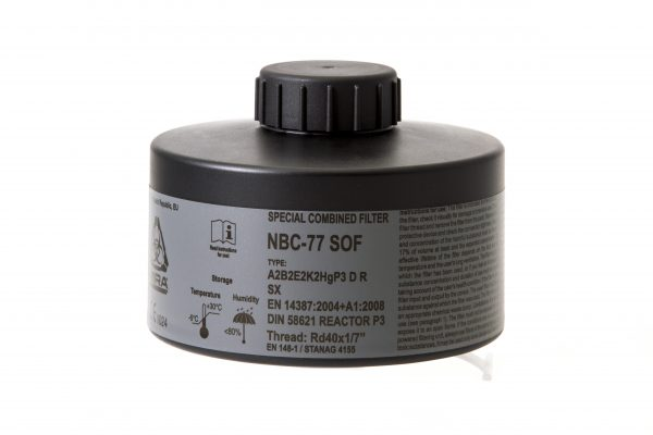 MIRA Safety NBC-77 SOF Gas Mask Filter specifications