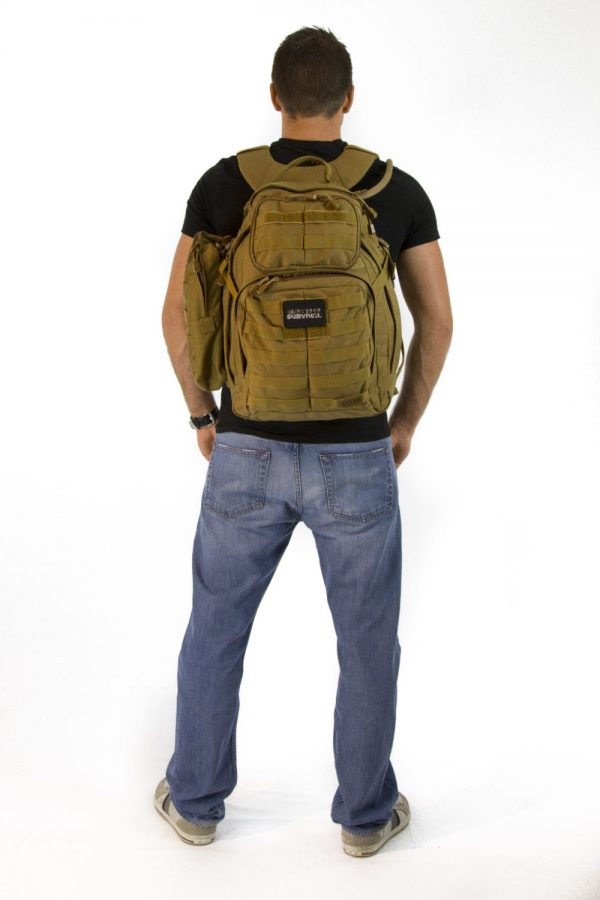 Advanced Operative Bug Out Bag with White Background – Back View