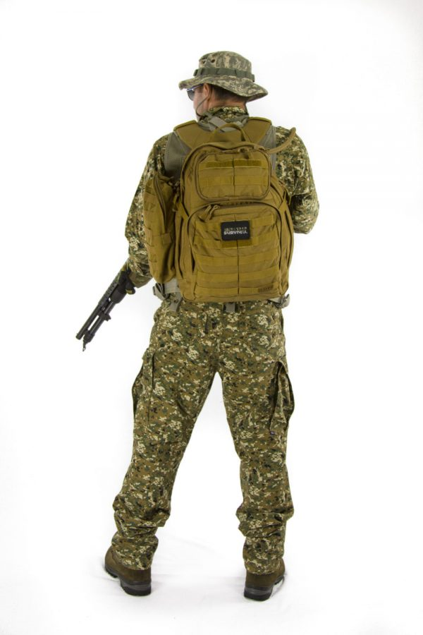 Advanced Operative Bug Out Bag on a Soldier