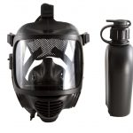 Front view of the CM-6M tactical gas mask