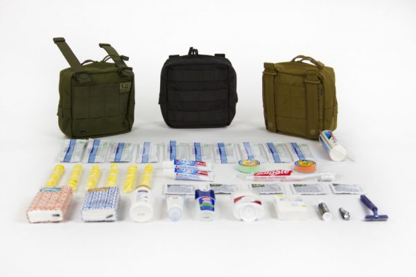 Emergency Hygiene Kit – Angle View