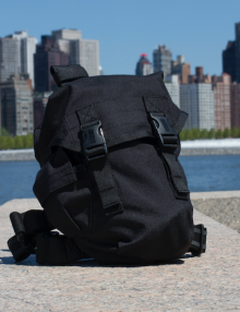 NBC Gas Mask Survival Kit with NYC Background