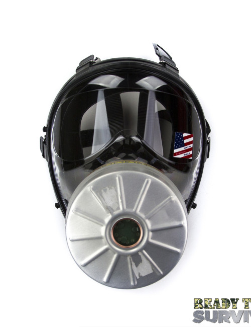 Mestel SGE 150 Chemical Gas Mask Front View with A2B2E2K2P3 Filter
