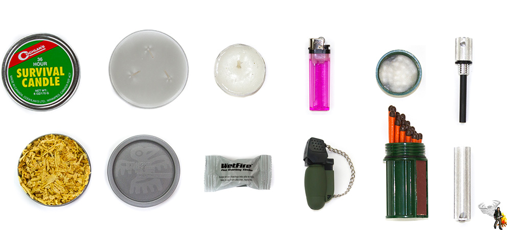 Bug out bag list for your fire module on white background