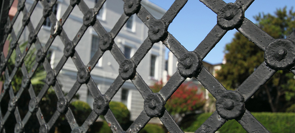 DIY home security system showcasing a reinforced fence