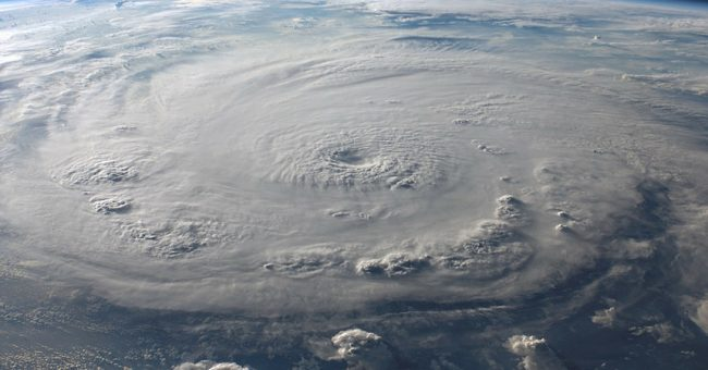 Raging hurricane about the hit land