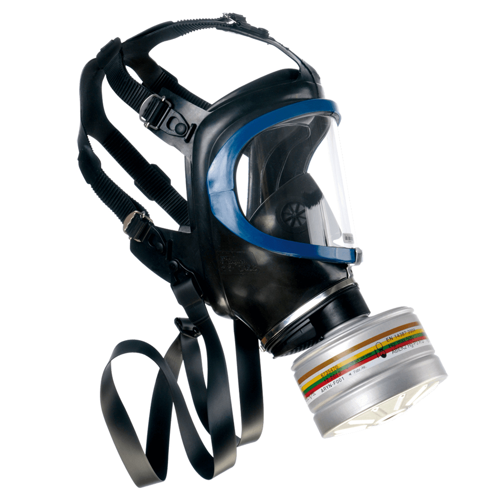 Drager X-Plore 6300 Tactical Gas Mask Side Profile on White Background