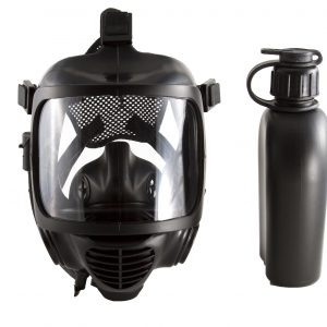 CBRN tactical gas mask on white background